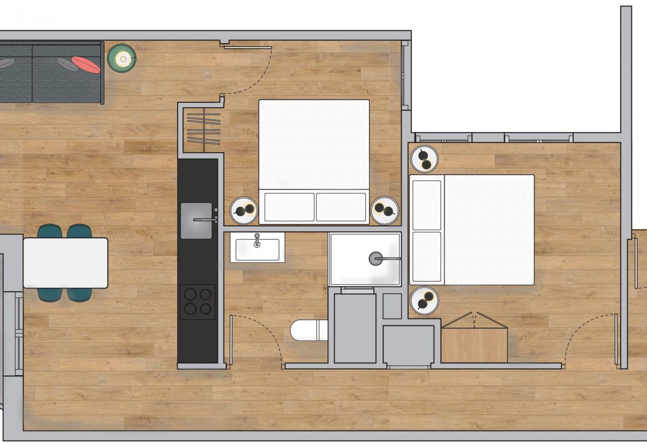 Apartamento en Hospitalet de Llobregat - Olala Urban Chill Flat 5.4 I Balcony