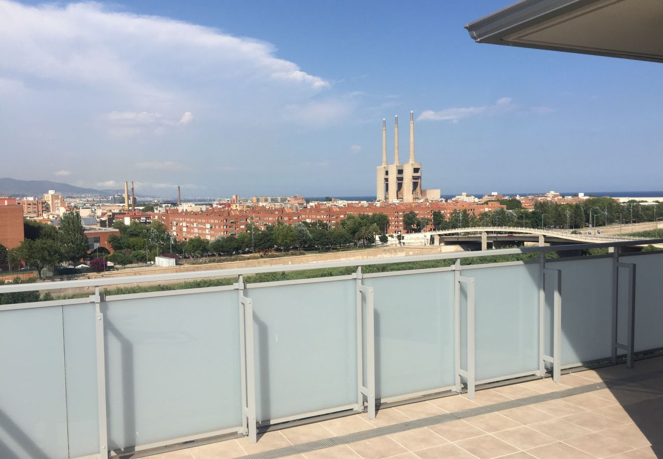 Appartement à Sant Adria de Besós - Olala Port Forum Sea View Penthouse